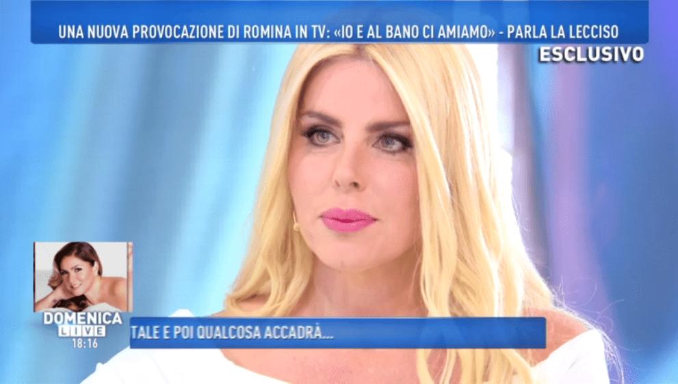 Domenica Live, Loredana Lecciso: 'Romina Power? Come se fosse mia cognata'