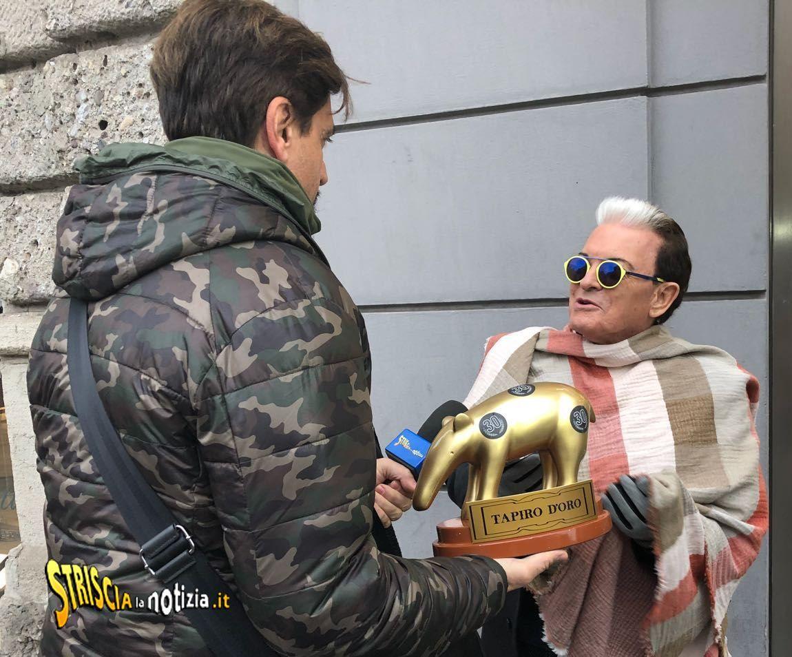 Tapiro d'oro a Cristiano Malgioglio: 'Ho vinto il GF VIP 2, i social si occupano di me'