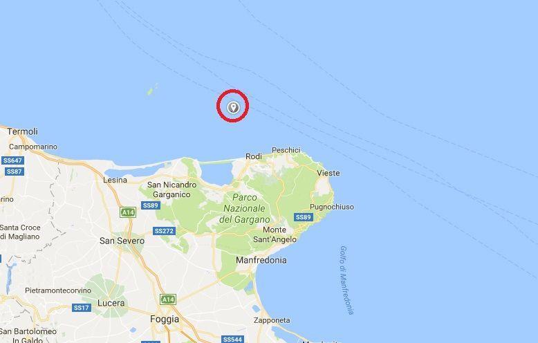 Terremoto sul Gargano, oggi 27 novembre 2017: epicentro in mare