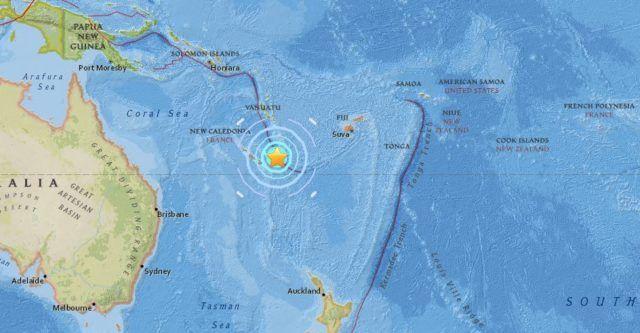 Terremoto Nuova Caledonia