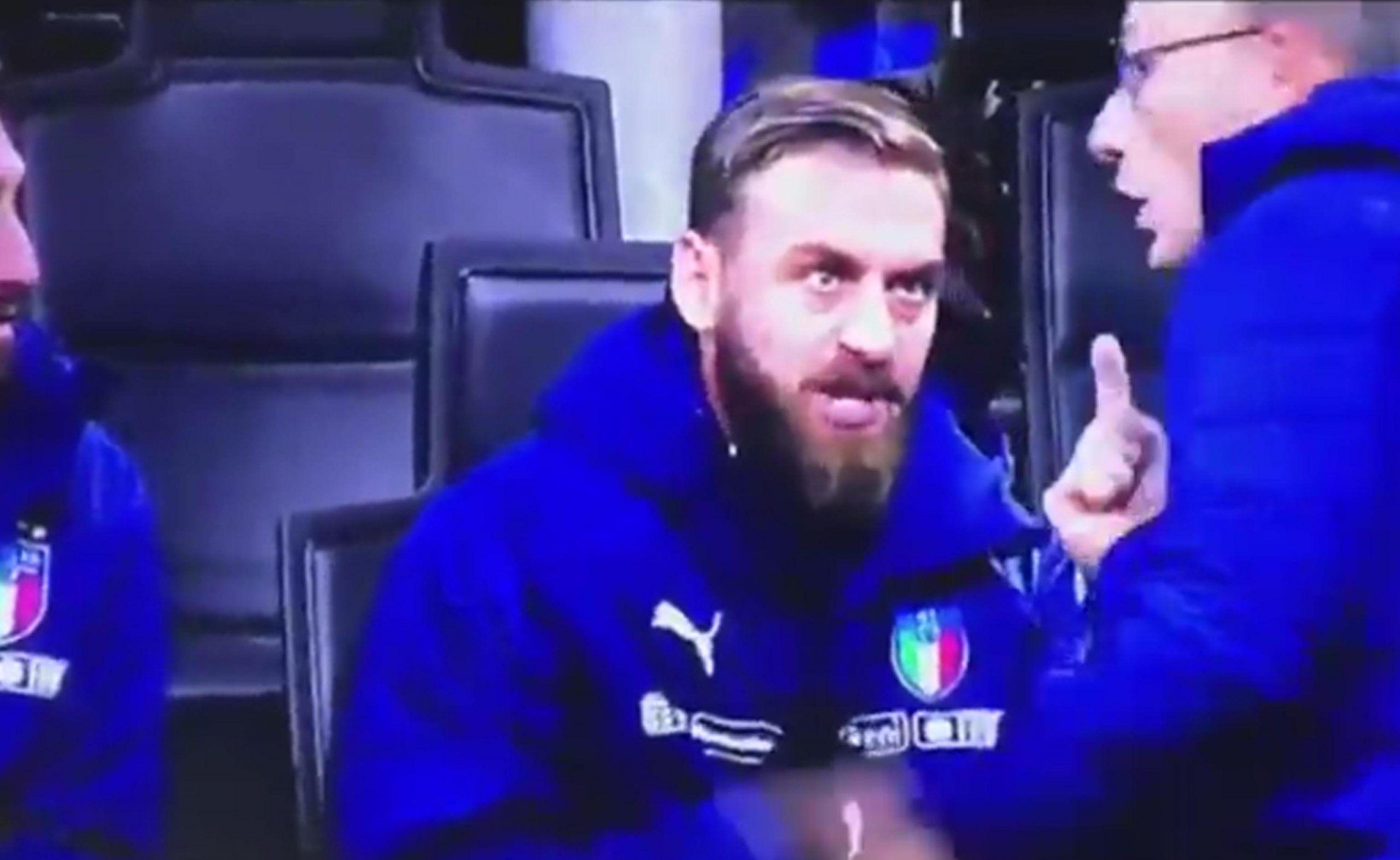 De Rossi Italia-Svezia, litigio dalla panchina: 'Che entro a fare? Dobbiamo vincere'