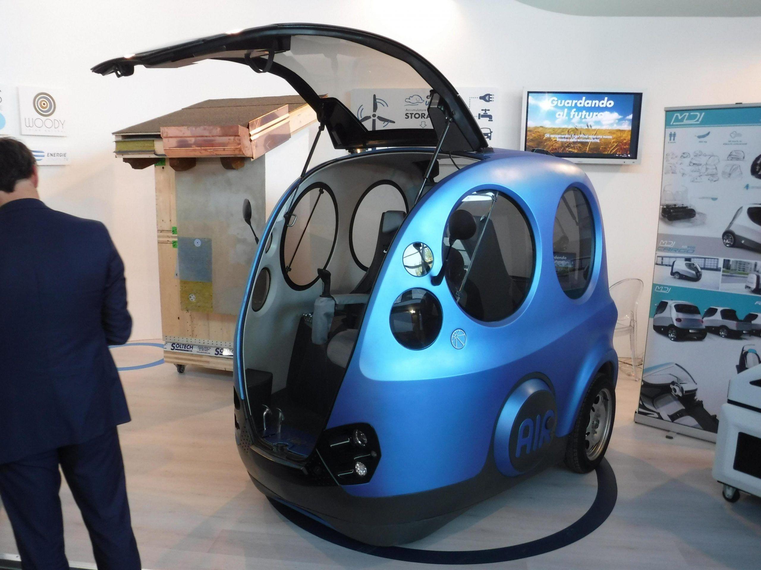 Airpod, auto ad aria compressa prodotta in Sardegna