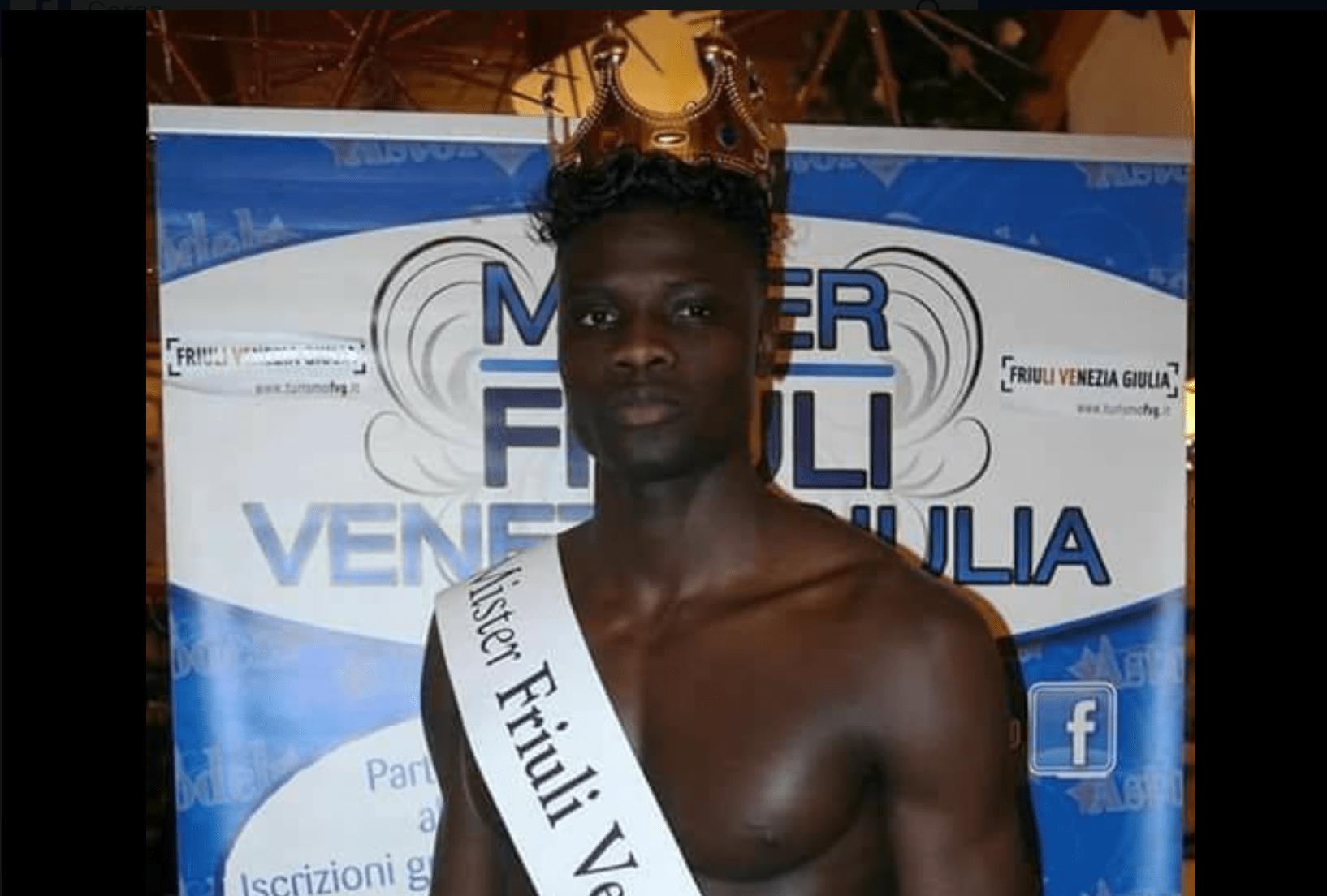 Mister Friuli 2017 è di colore, polemiche sul web: 'I razzisti? Non mi abbattono'