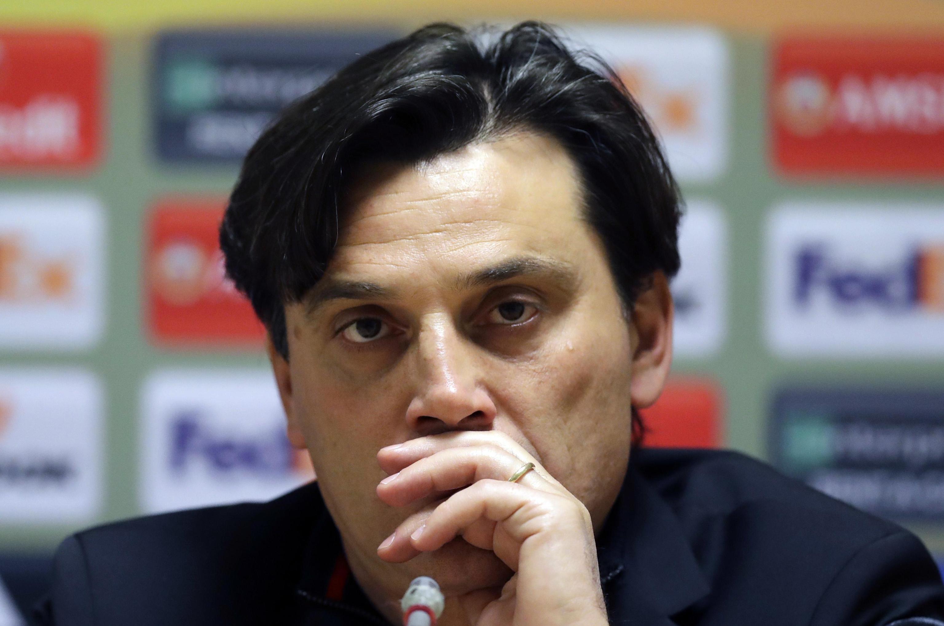 Montella esonerato dal Milan, squadra affidata a Gattuso