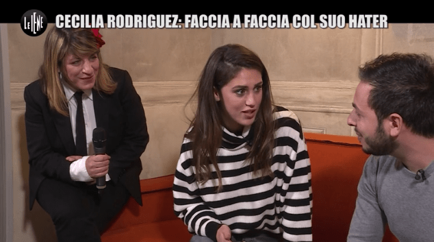 Le Iene, Cecilia Rodriguez incontra un hater: 'Non sono tr***, sappilo!'