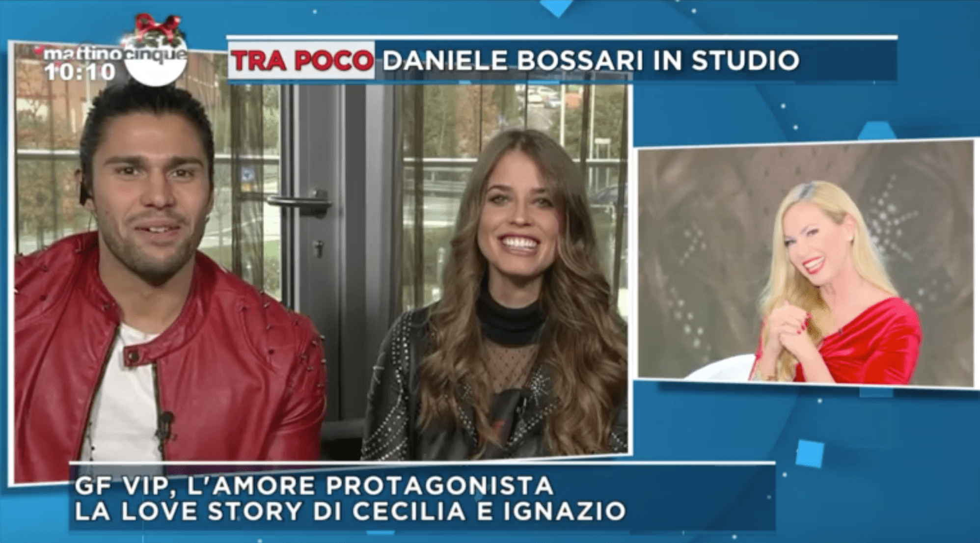 Luca Onestini e Ivana Mrazova Mattino 5 primo bacio in diretta