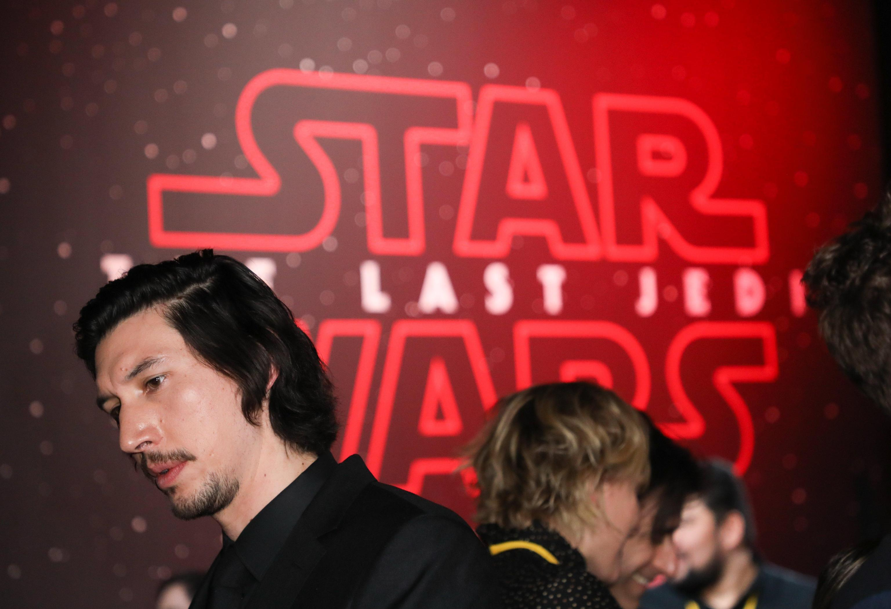 Star Wars: The Last Jedi world premiere red carpet in Los Angeles