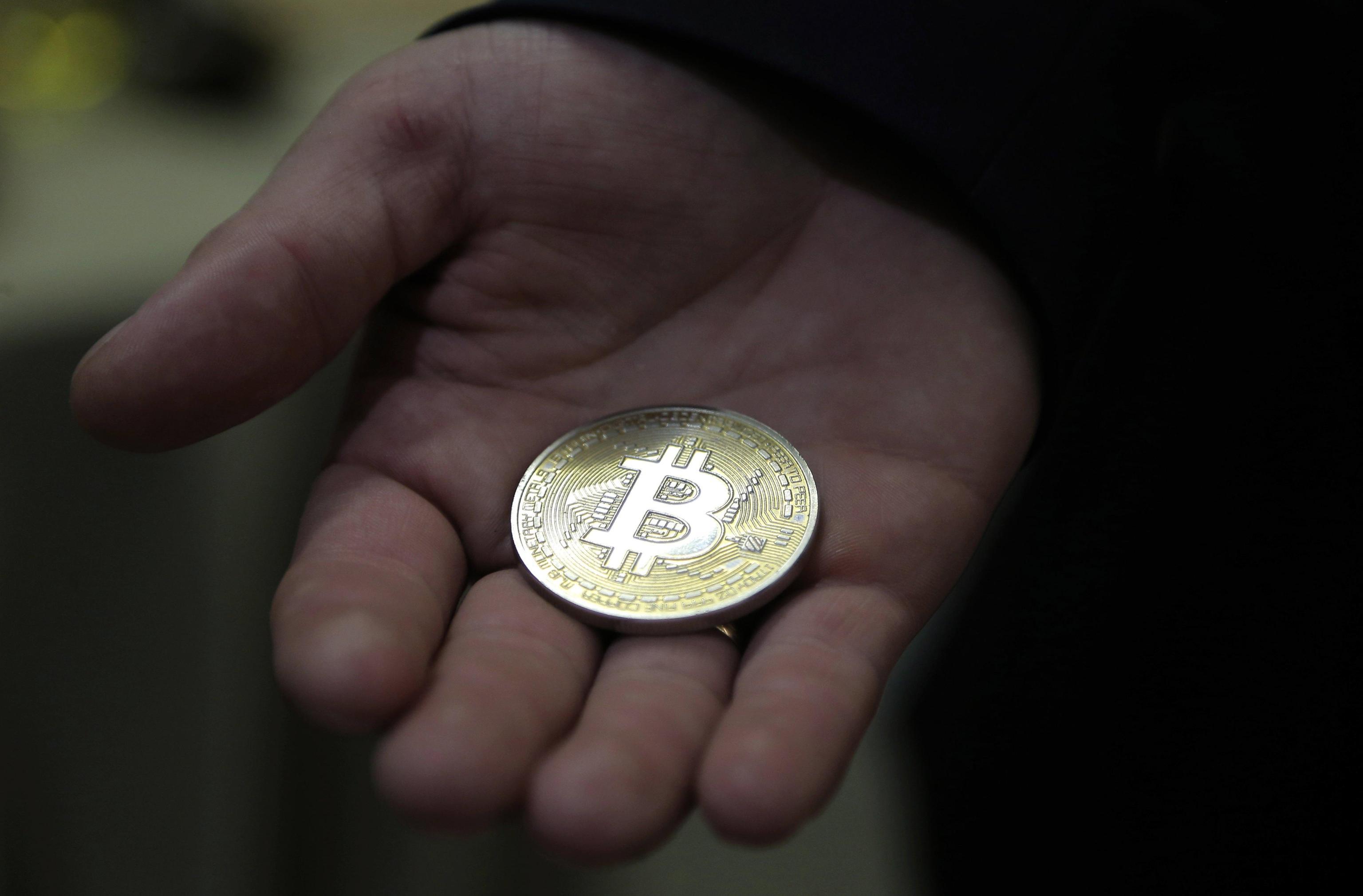 Il simbolo del bitcoin utilizzato per gli scambi in borsa