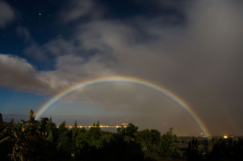 fenomeni atmosferici rari arcobaleno lunare