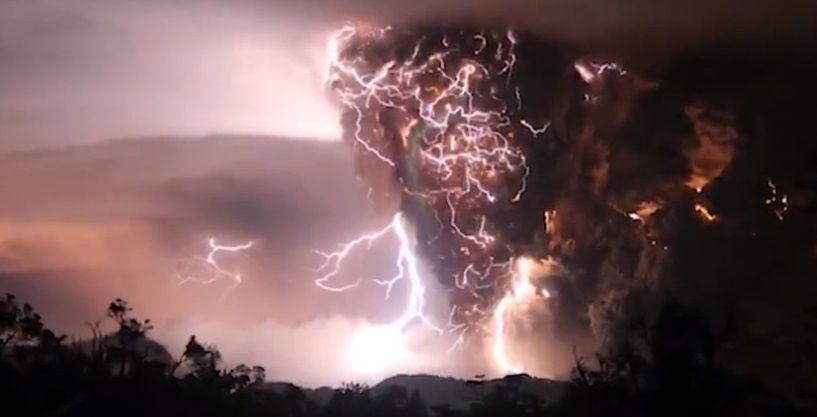 fenomeni atmosferici rari fulmine vulcanico