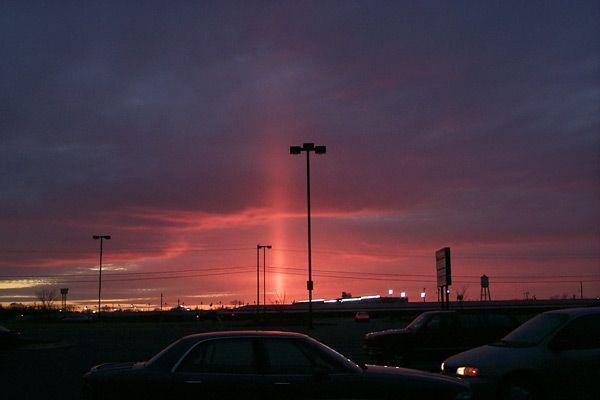 fenomeni atmosferici rari pilastro solare
