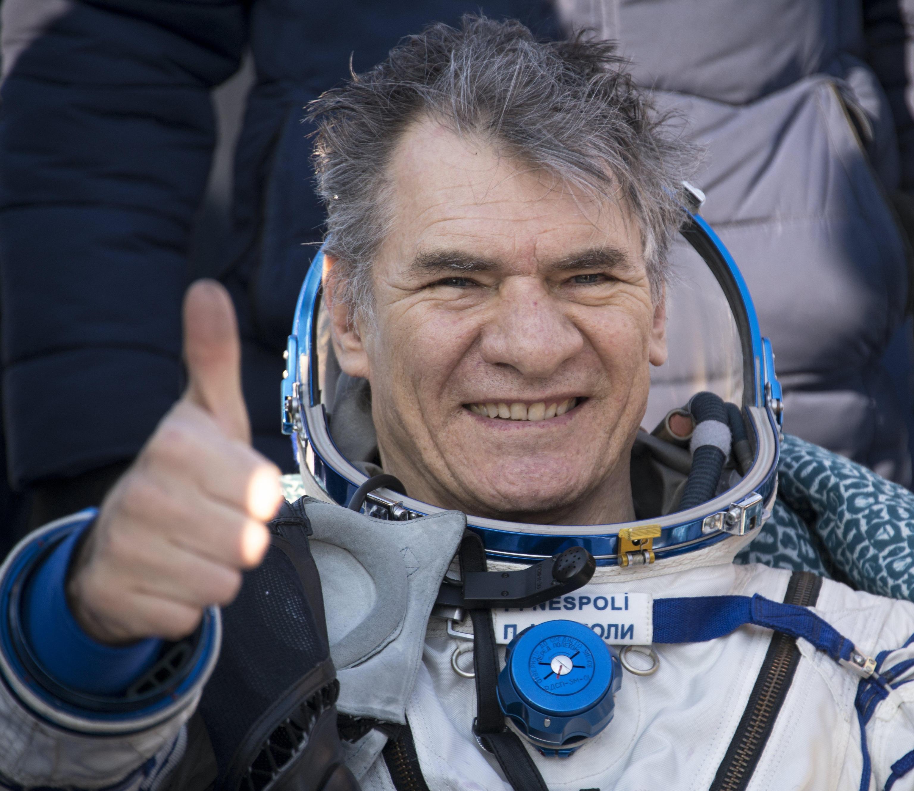 Paolo Nespoli al rientro dalla sua terza missione nello spazio