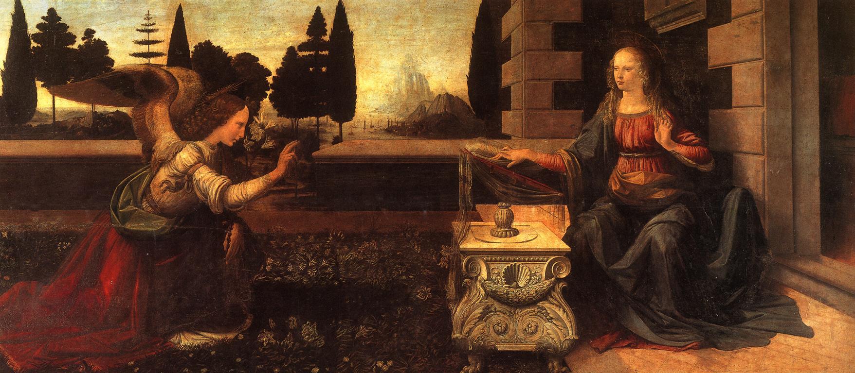 quadri più famosi di leonardo, annunciazione