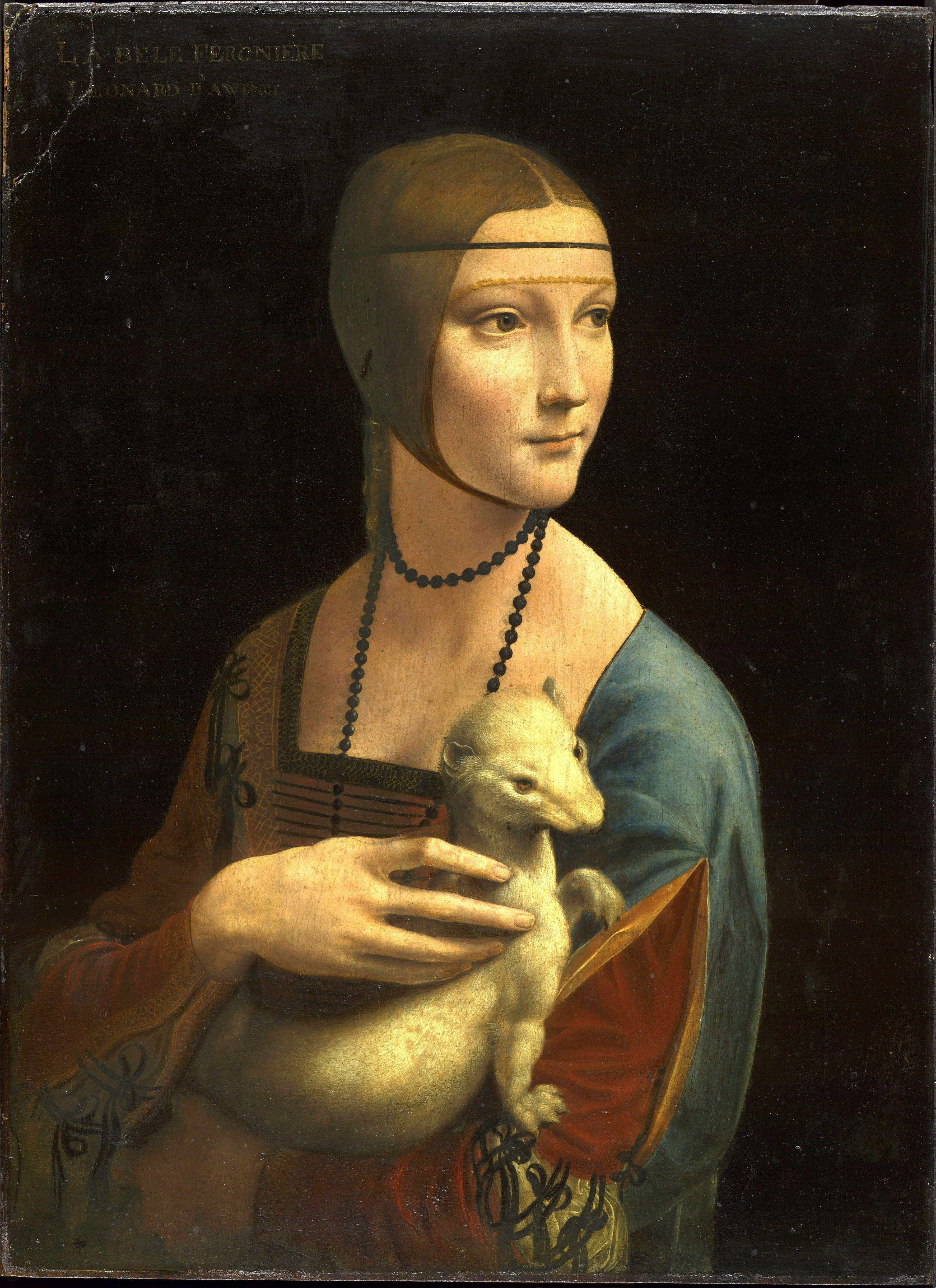 quadri più famosi di leonardo dama con l'ermellino