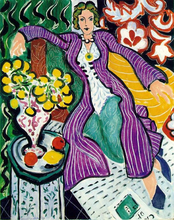 quadri più famosi di matisse, woman in a purple coat