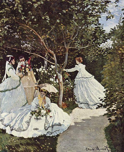 quadri più famosi di monet, donne in giardino