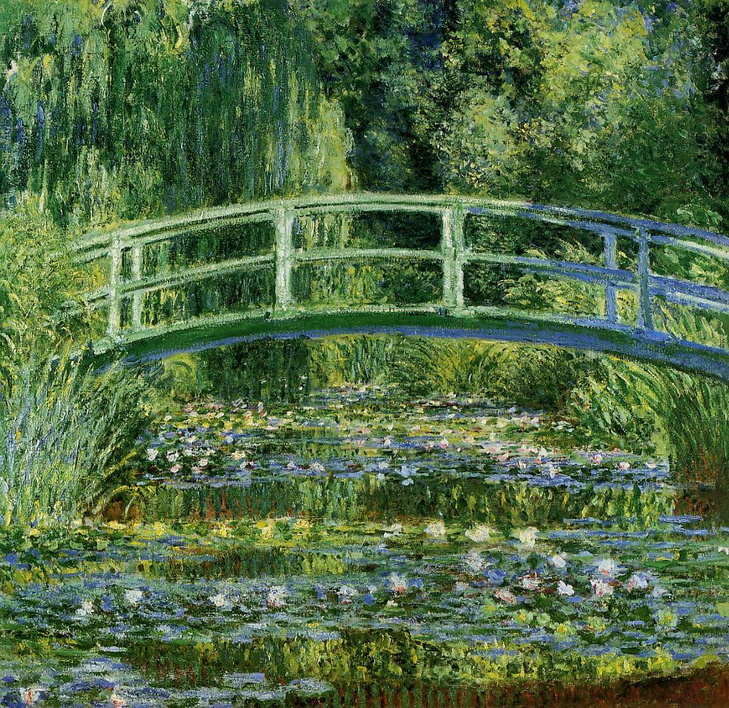 quadri più famosi di monet, water lilies and japanese bridge