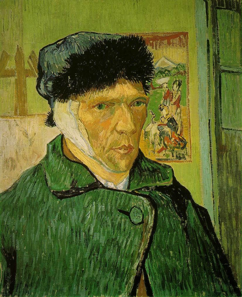 quadri più famosi di van gogh, autoritratto con orecchio bendato