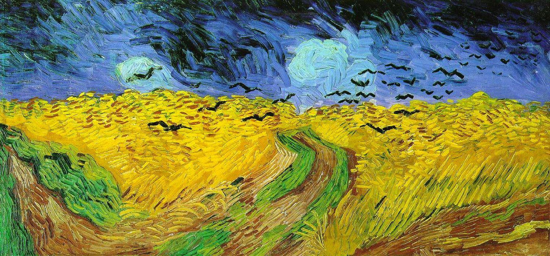 quadri più famosi di van gogh, campo di grano con volo di corvi