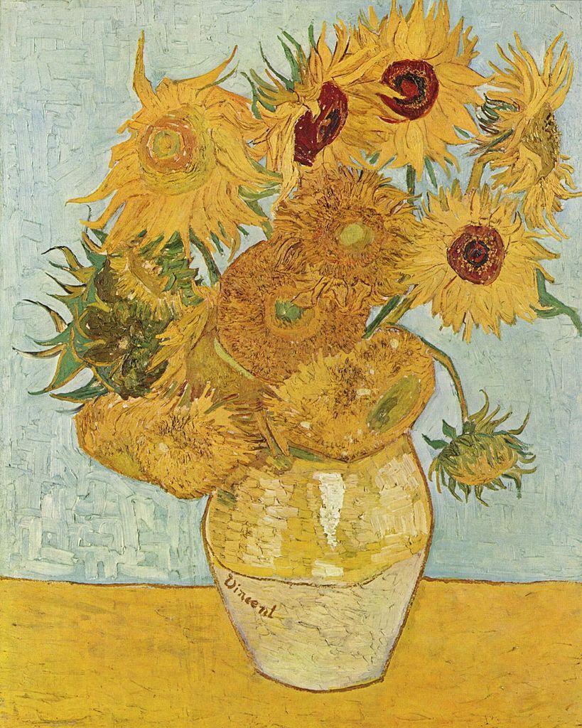quadri più famosi di van gogh, girasoli