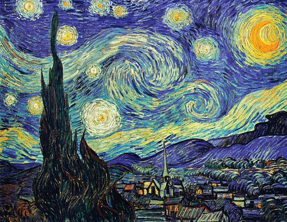 quadri più famosi di van gogh, notte stellata