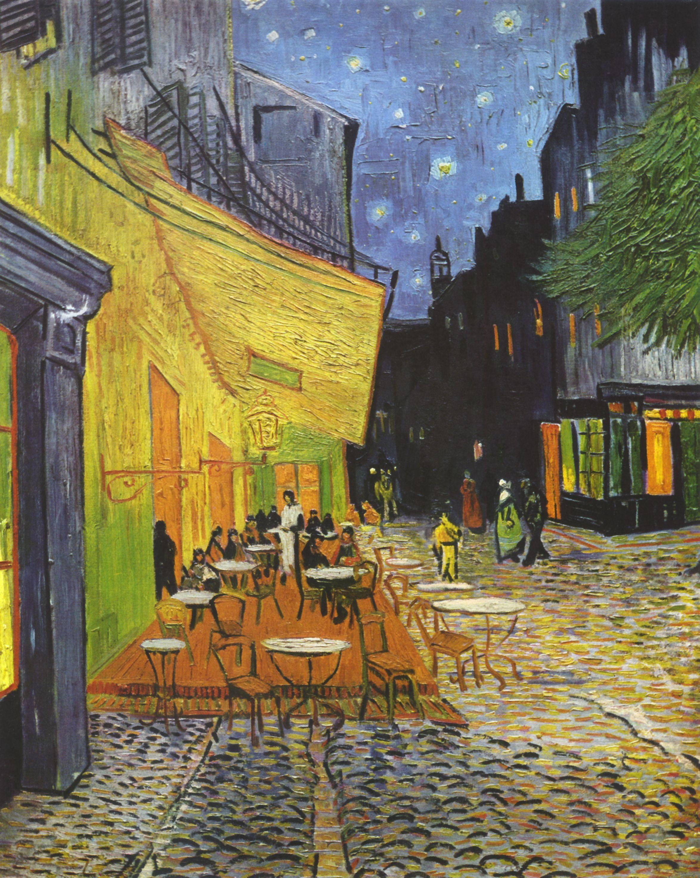 quadri più famosi di van gogh, terrazza del caffè la sera