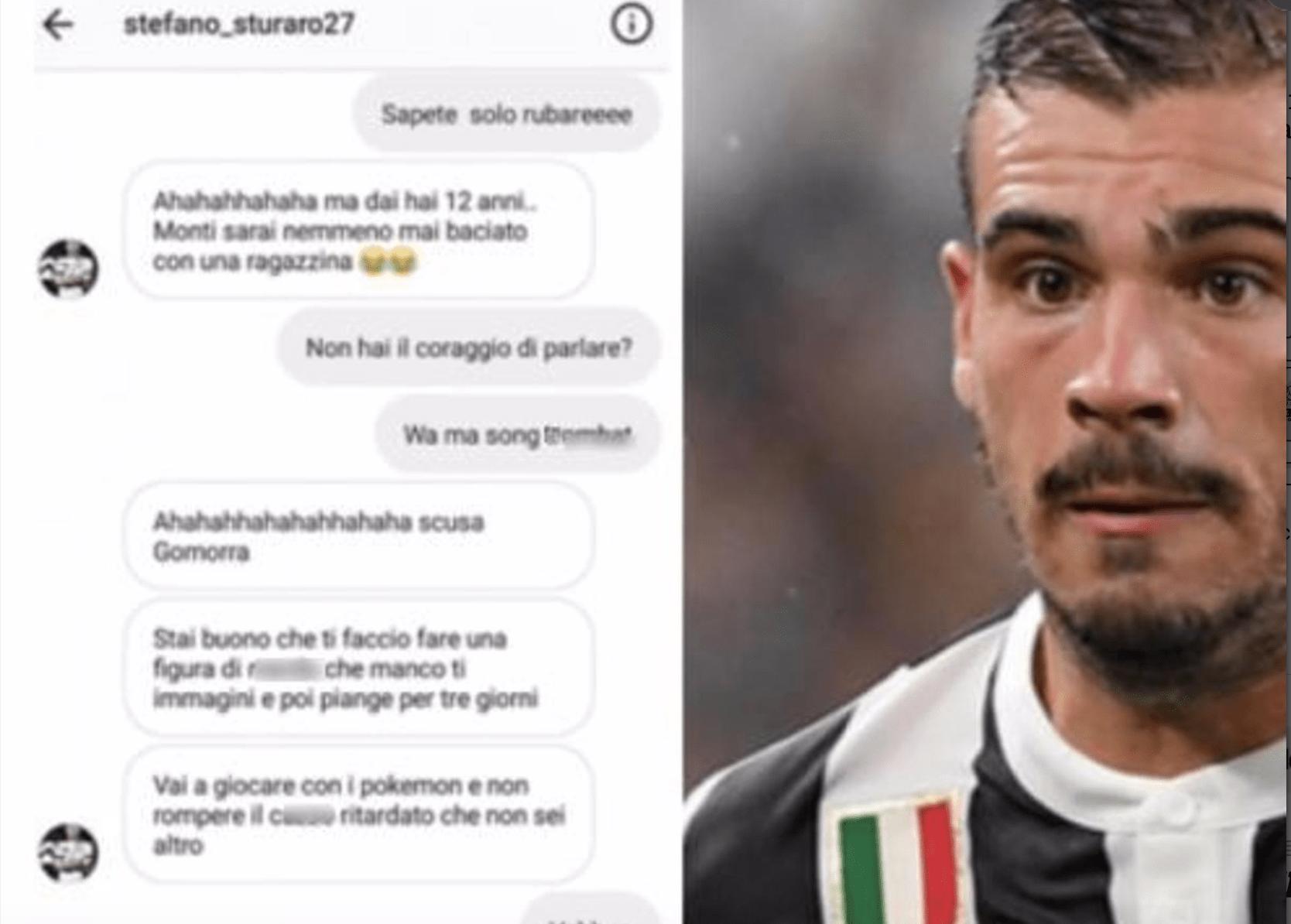 Stefano Sturaro della Juventus litiga con un tifoso napoletano di 12 anni: 'Ritardato che non sei altro'