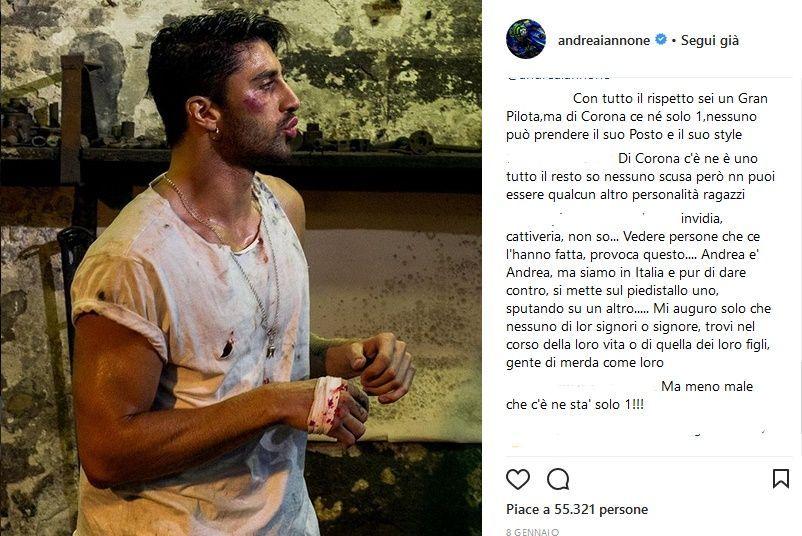 Andrea Iannone su Instagram_foto