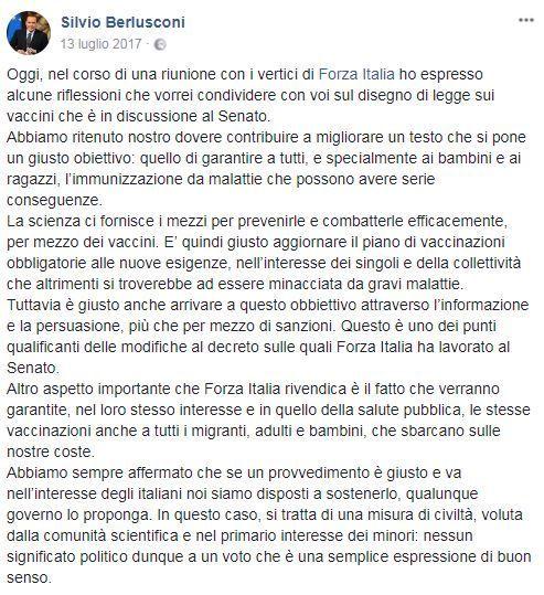 Berlusconi vaccini