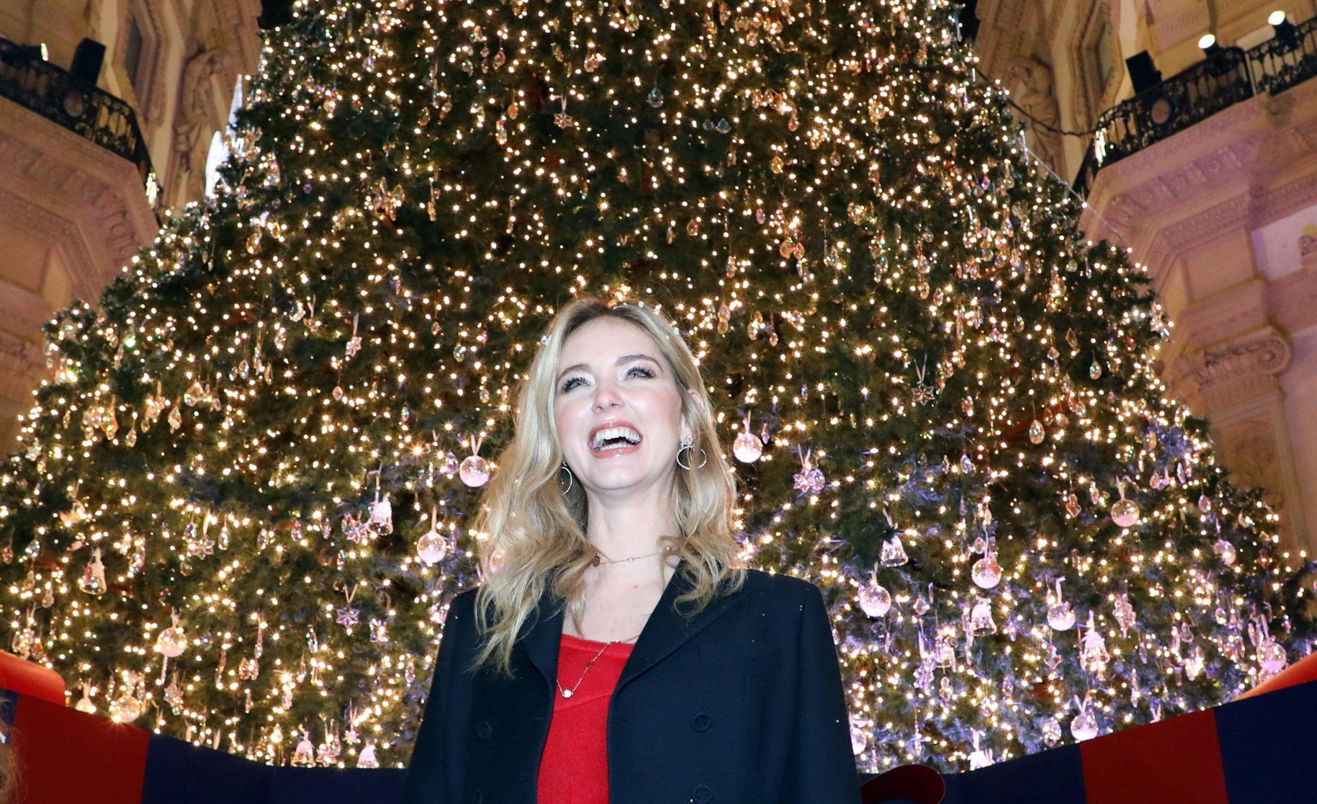 Chiara Ferragni a Milano per il Natale 2017