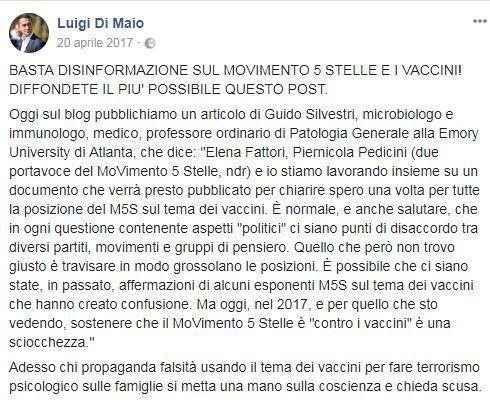 Di Maio vaccini