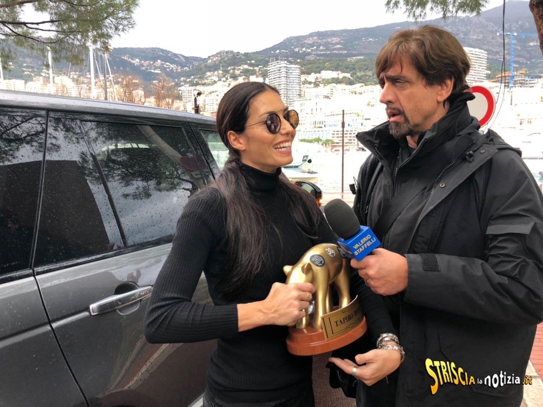 Elisabetta Gregoraci e Valerio Staffelli col Tapiro