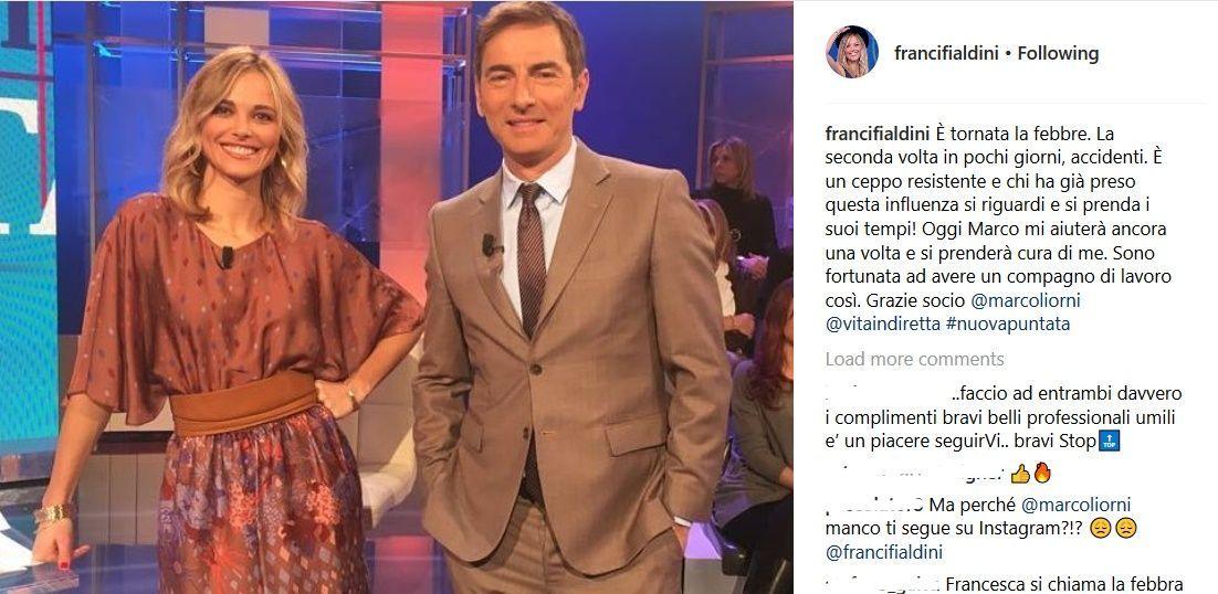 Francesca Fialdini su Instagram