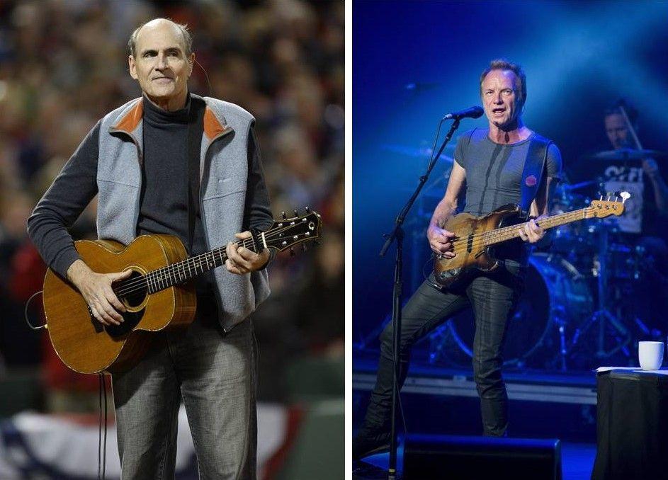 James Taylor e Sting a Sanremo 2018