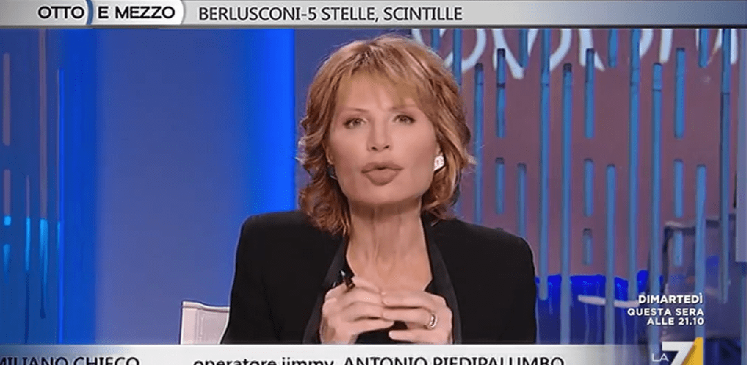 Lilli Gruber, lite a Otto e Mezzo con Danilo Toninelli
