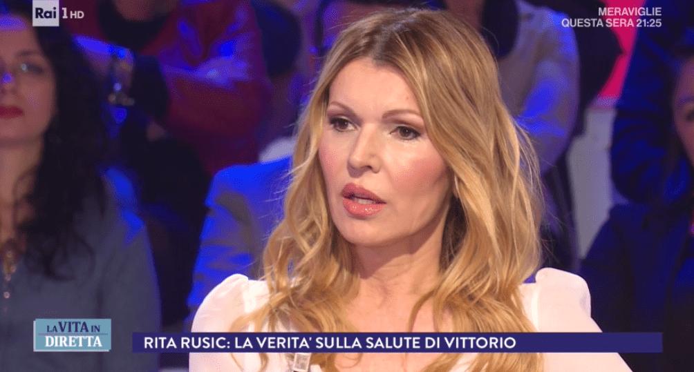 La Vita in Diretta, Rita Rusic: 'Vittorio Cecchi Gori sta migliorando, intorno a lui nessuno'
