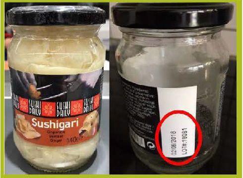 Prodotto a base di zenzero ritirato dai supermercati: presenza di vetri nelle confezioni