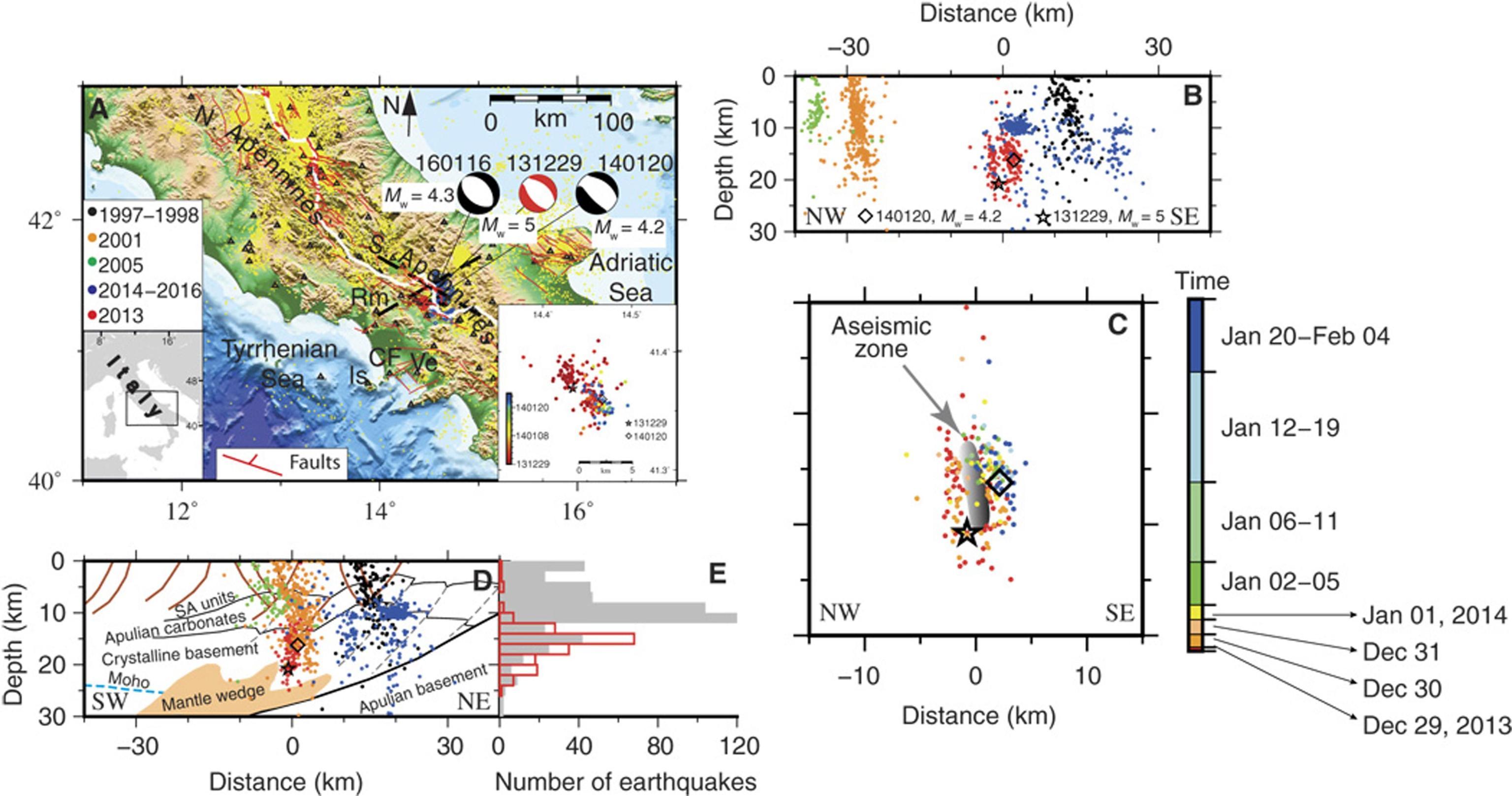 Terremoti: scoperta sorgente di magma sotto l'Appennino