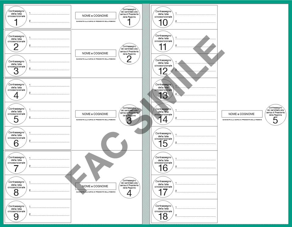 elezioni 2018 scheda elettorale regionali