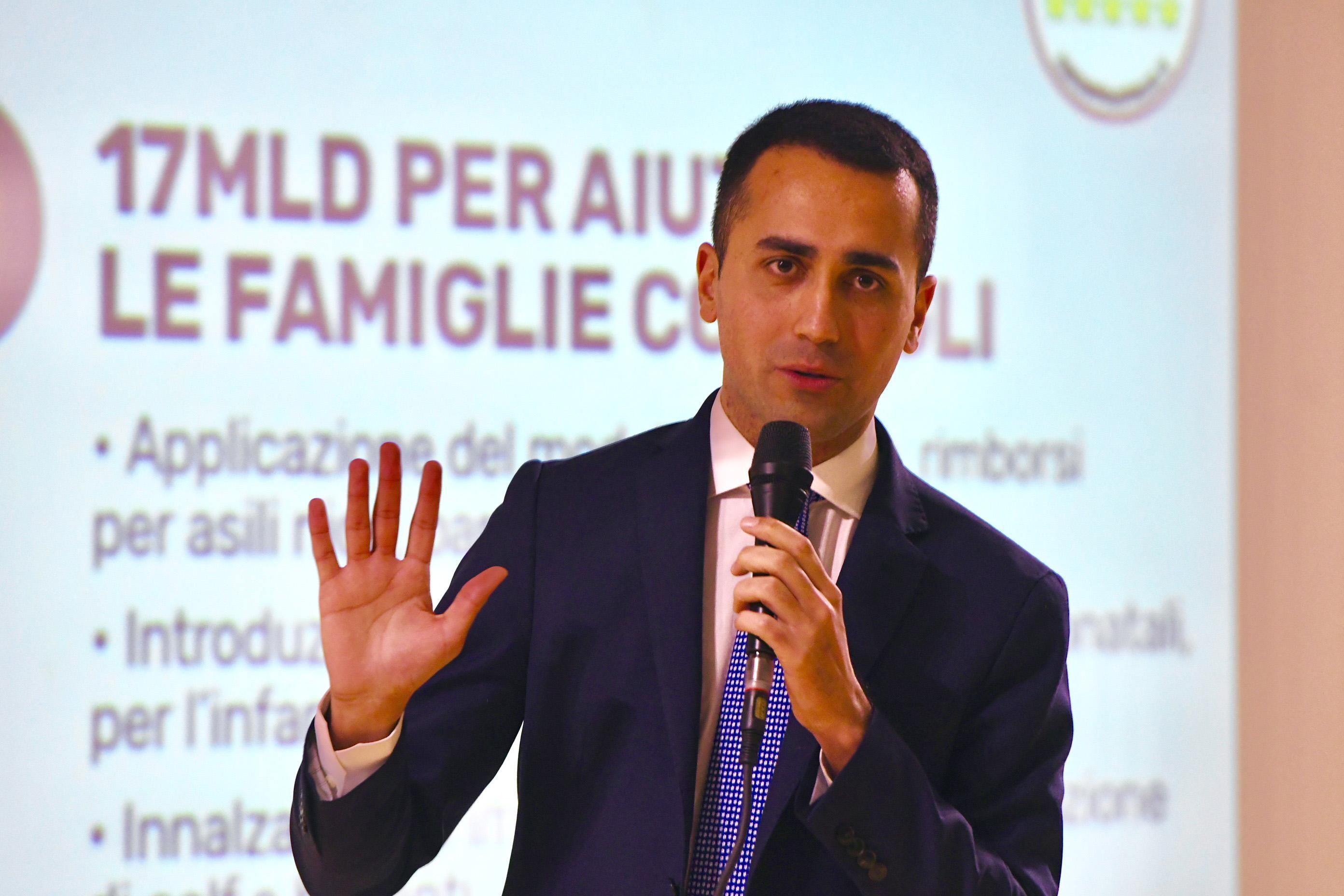 Luigi Di Maio presenta programma M5S