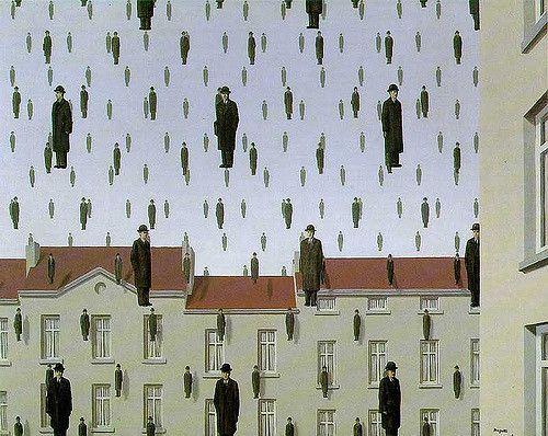 opere d'arte strane golconda magritte