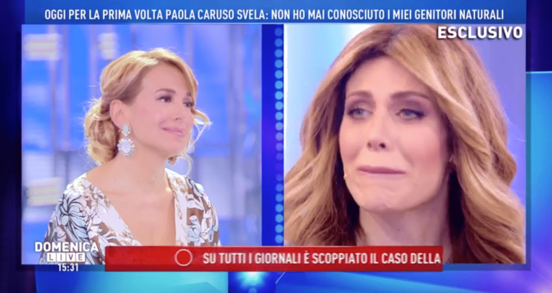 Paola Caruso a Domenica Live: 'Sono stata adottata, l'ho scoperto a 13 anni'