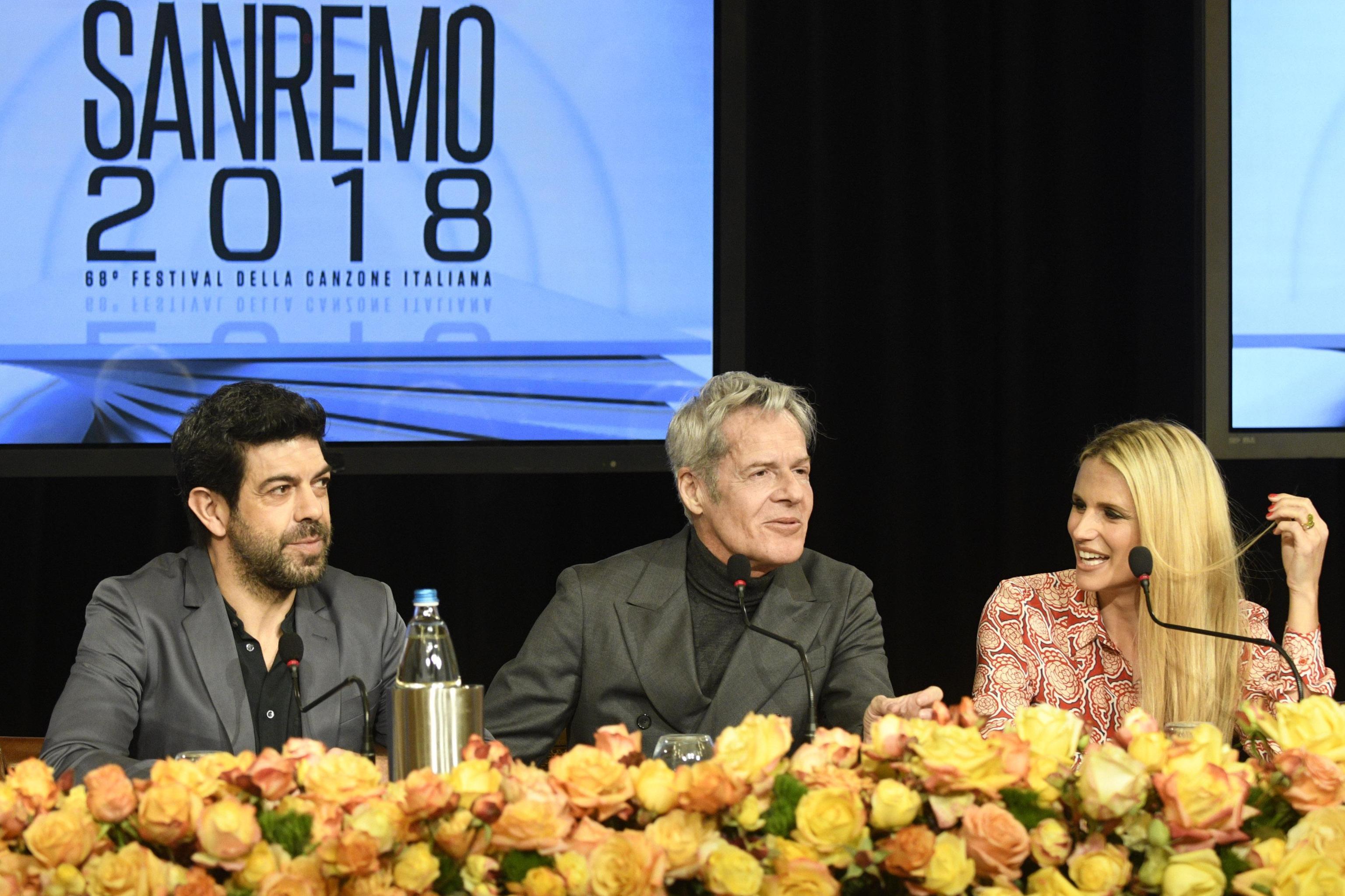 Sanremo 2018, i compensi dei conduttori: 600 mila euro per Baglioni
