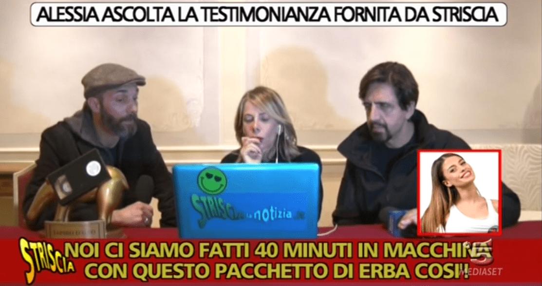 Striscia la notizia, fuori onda di Chiara Nasti: 'Francesco Monte fumava con Marco Ferri'