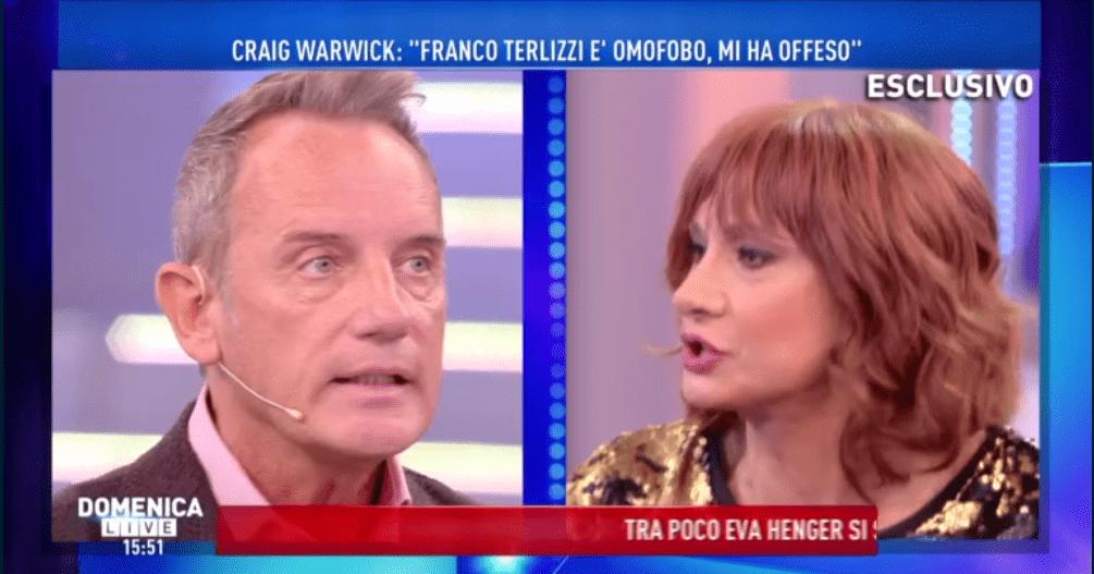 Craig Warwick accusa Franco Terlizzi di omofobia