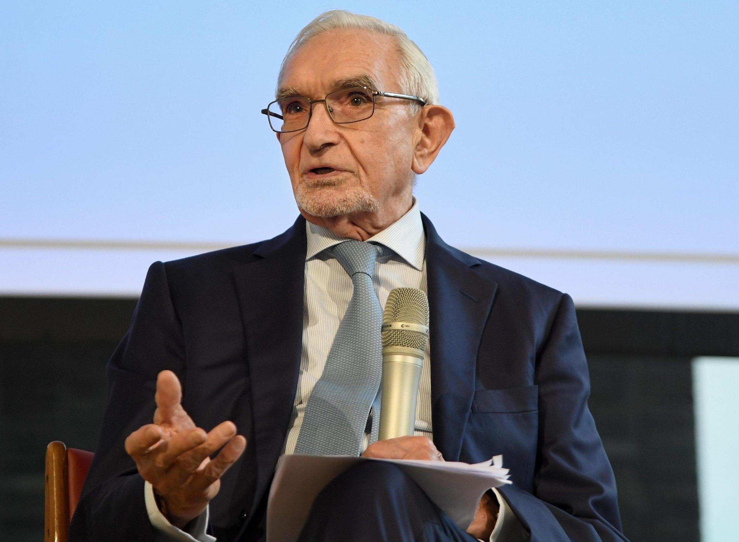 Il presidente della Fondazione Cariplo Giuseppe Guzzetti