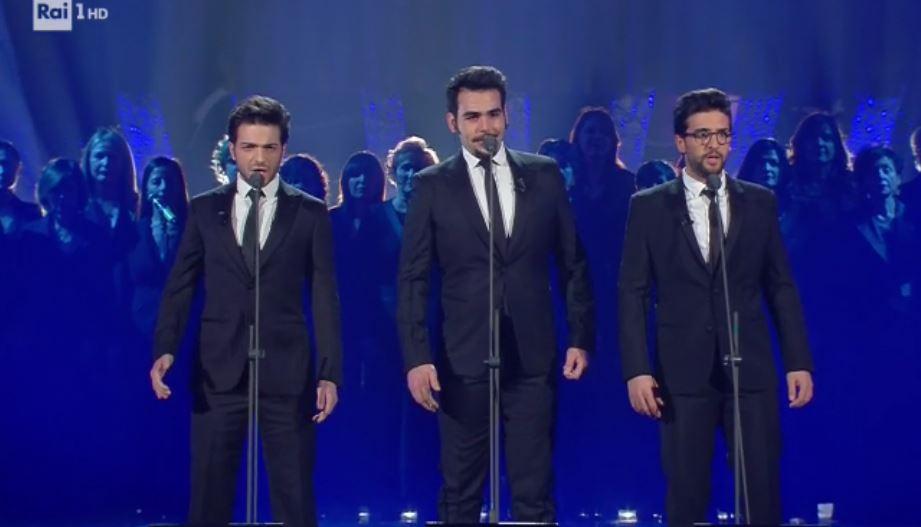 Sanremo 2018, Il Volo omaggia i Tre Tenori sul palco dell'Ariston