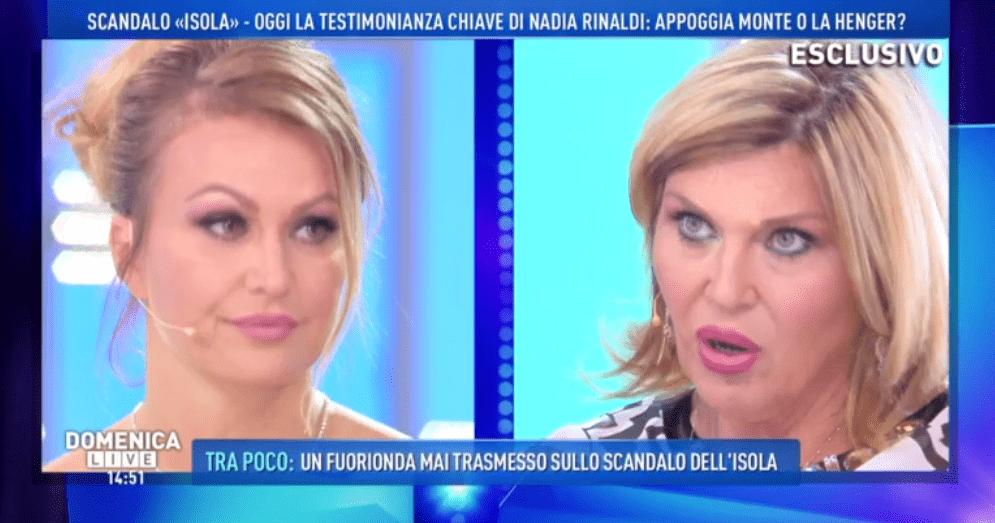 Domenica Live, Nadia Rinaldi smentisce Eva Henger: 'Mai visto Francesco Monte fumare canne'