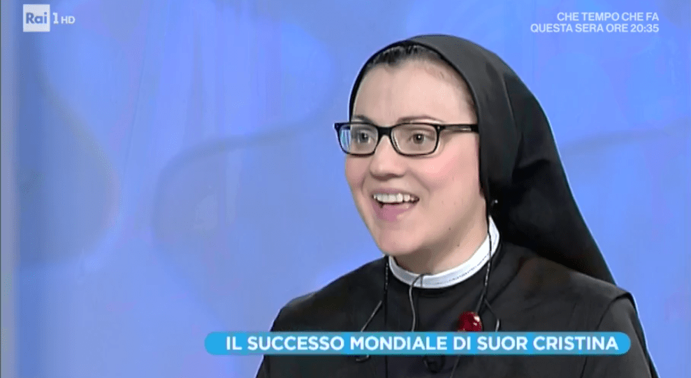 Domenica In, Suor Cristina Scuccia torna in tv: 'The Voice? Non so se lo rifarei'