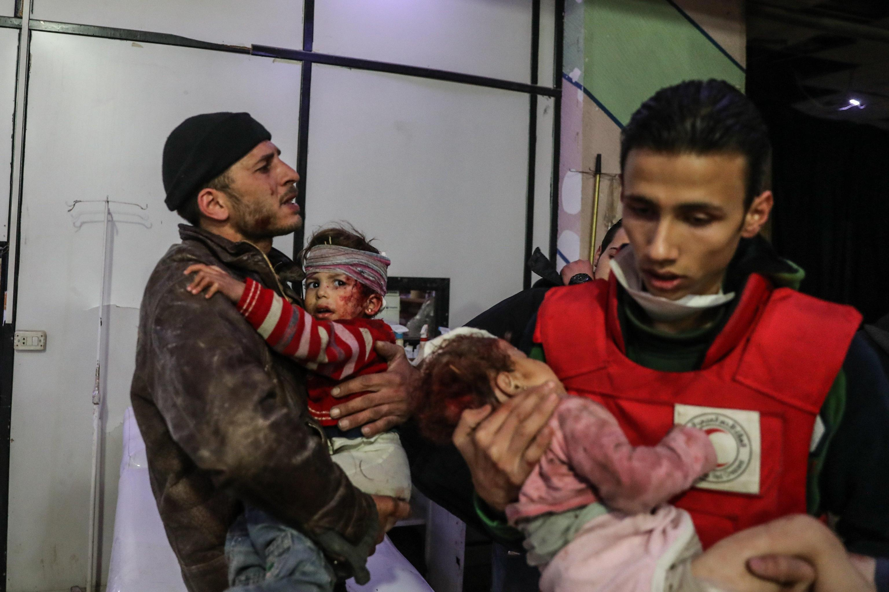 At least 85 people killed in bombing in Eastern al Ghouta